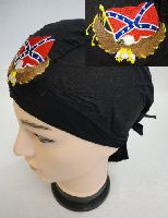 Embroidered Skull Cap [Eagle with Rebel Flag]